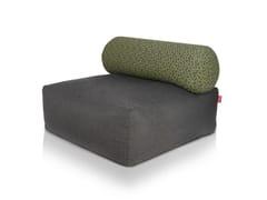 - Upholstered cotton armchair TSJONGE DARK GREY - Fatboy Italia