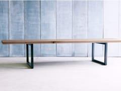 - Custom oak table TUBE 6CM MTM - Heerenhuis