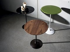 - Contemporary style wooden coffee table TULIP WOOD | Round coffee table - SOVET ITALIA