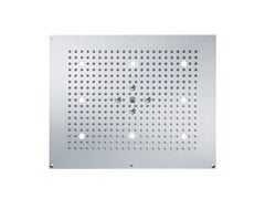 - 2-spray rain shower with built-in lights TUNE | Overhead shower with built-in lights - rvb