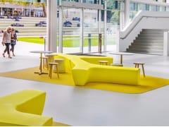 - Modular polyethylene garden bench TWIG | Polyethylene bench - Derlot Editions