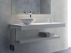 PIANO LAVABO IN SOLID SURFACE TYE - BLUBLEU