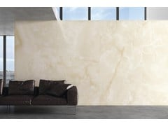 - Indoor/outdoor porcelain stoneware wall/floor tiles with marble effect ULTRA ONICI │ BEIGE - ARIOSTEA