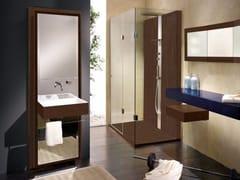 Mobile lavabo singolo in legno con specchioUNICO | Mobile lavabo - CARMENTA