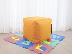 - Upholstered polyester pouf with removable lining UP! OX - Pusku pusku