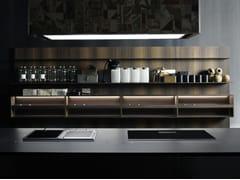 - Fitted wooden Kitchen backsplash UPPER UNITS | Wooden Kitchen backsplash - Boffi