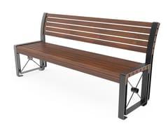 Panchina in acciaio con schienaleURBIS   Panchina con schienale - CITY DESIGN
