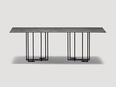 - Rectangular metal dining table URUSHI | Rectangular table - da a