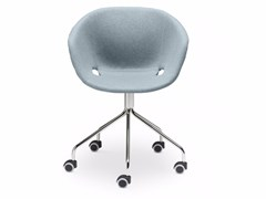- Swivel upholstered polypropylene easy chair with casters Uni-Ka 597M-5R - Metalmobil