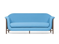- Contemporary style 2 seater upholstered fabric sofa VALENTIM shy blue - DAM