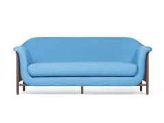 - Divano imbottito in tessuto in stile moderno a 2 posti VALENTIM shy blue - DAM
