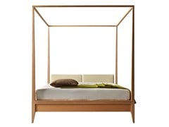 - Double bed with upholstered headboard VALENTINO | Canopy bed - Morelato