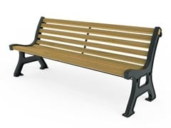Panchina in ghisa con schienaleVALENTINO   Panchina con schienale - CITY DESIGN
