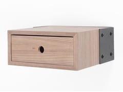 Comodino rettangolare sospeso in acciaio e legnoVANEAU   Comodino - ALEX DE ROUVRAY DESIGN
