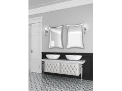 - Double console sink with drawers with mirror VANITY CM07VA - LA BUSSOLA