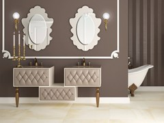 - Double vanity unit with drawers with mirror VANITY CM02VA - LA BUSSOLA