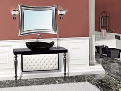 - Lacquered vanity unit with drawers with mirror VANITY CM05VA - LA BUSSOLA