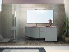 - Lacquered vanity unit with mirror VENERE CM02V - LA BUSSOLA