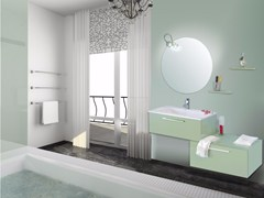 - Lacquered vanity unit with drawers with mirror VENERE CM09V - LA BUSSOLA