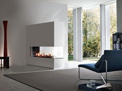 - Gas Fireplace insert with Panoramic Glass VENEZIA | Fireplace insert with Panoramic Glass - ITALKERO