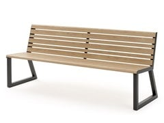 - Aluminium Bench with back VENTIQUATTRORE.H24 | Bench with back - Diemmebi