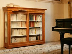 - Wood and glass bookcase / display cabinet BIEDERMEIER | Display cabinet - Morelato