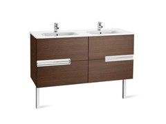 - Double wooden vanity unit VICTORIA-N   Double vanity unit - ROCA SANITARIO