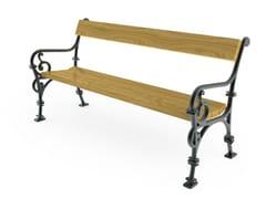 Panchina in ghisa con braccioli con schienaleVIENNA   Panchina con braccioli - CITY DESIGN