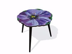 - Beech wood and HPL side table VIOLETTE M - Bazartherapy