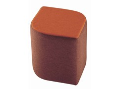- Upholstered fabric pouf Virgola 592 - Metalmobil