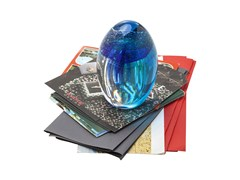 - Paperweight VISIBLE JELLYFISH BLUE-GREEN - KARE-DESIGN