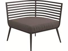 - Corner upholstered garden armchair VISTA | Corner garden armchair - Gloster