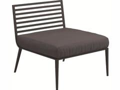 - Upholstered garden armchair VISTA | Garden armchair - Gloster