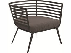 - Upholstered garden armchair with armrests VISTA | Garden armchair with armrests - Gloster