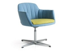 - Fabric guest chair with 4-spoke base with armrests VITTORIA | Easy chair with 4-spoke base - Quinti Sedute