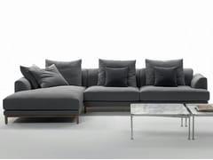 - Fabric sofa with chaise longue VIVALDI | Sofa with chaise longue - Marac