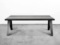 - Rectangular steel and wood table VOLTA - Officine Tamborrino