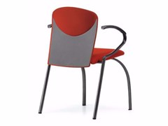 - Upholstered fabric reception chair with armrests VULCAN 1288 Z - TALIN
