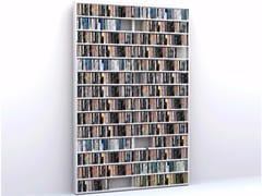 - Sectional floorstanding custom CD rack WALL DISC LAQUÉE - MALHERBE EDITION