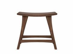 - Low walnut stool WALNUT OSSO   Low stool - Ethnicraft