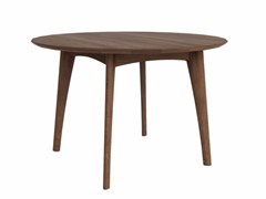 - Round walnut table WALNUT OSSO | Round table - Ethnicraft