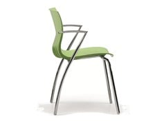 - Stackable plastic chair with armrests WEBBY 334 - TALIN