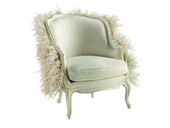 - Louis XV bergere armchair with armrests WHITE SWAN - ROCHE BOBOIS
