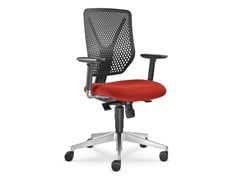 - Height-adjustable task chair with 5-Spoke base with casters WHY 320-SY - LD Seating