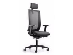 - Height-adjustable executive chair with 5-spoke base with headrest WIND 119 - TALIN