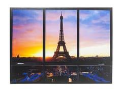 - Polyester Canvas print WINDOW EIFFEL TOWER - KARE-DESIGN