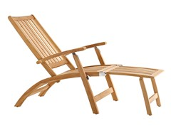 Sedia a sdraio reclinabile in teak con poggiapiediWINDSOR | Sedia a sdraio - SOLPURI