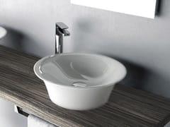 - Round ceramic washbasin WIRE | Countertop washbasin - Hidra Ceramica