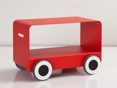 Tavolino in acciaio con ruoteWOODY | Tavolino - CAR-MET