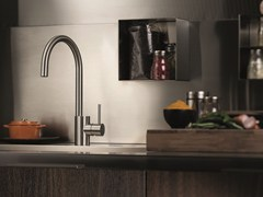 - Countertop stainless steel kitchen mixer tap with swivel spout X-MIX | Kitchen mixer tap - NEWFORM